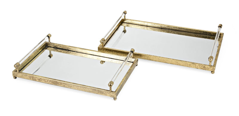 Charlotte Metal and Acrylic Trays