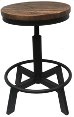 18-Wheeler Floor Board Swivel Counter Stool