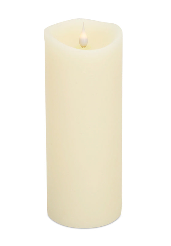 Led Melted Pillar Candle 4in