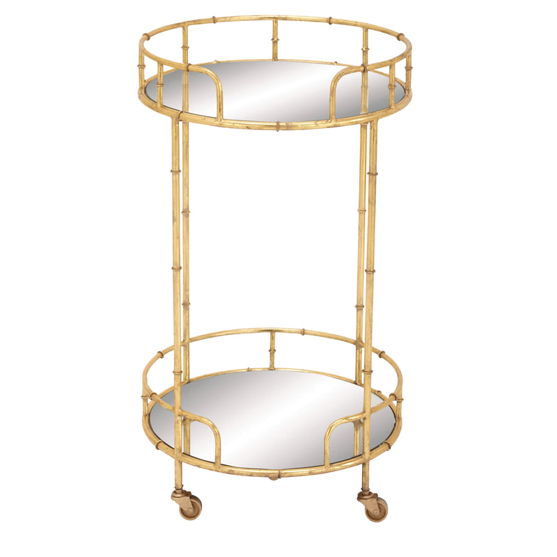 Round Contemporary Bar Cart