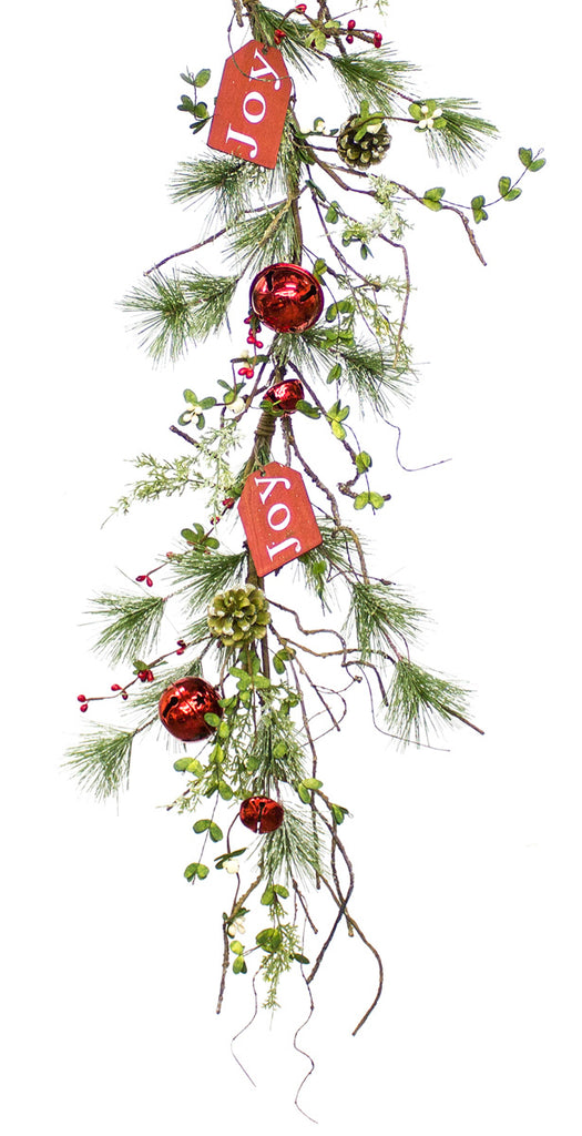Joy Tag Pine Garland
