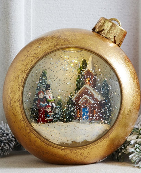Lighted Musical Snowglobe Carolers Ornament