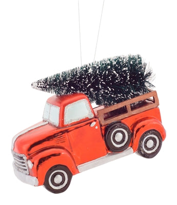 Truck Carrying Tree Ornament