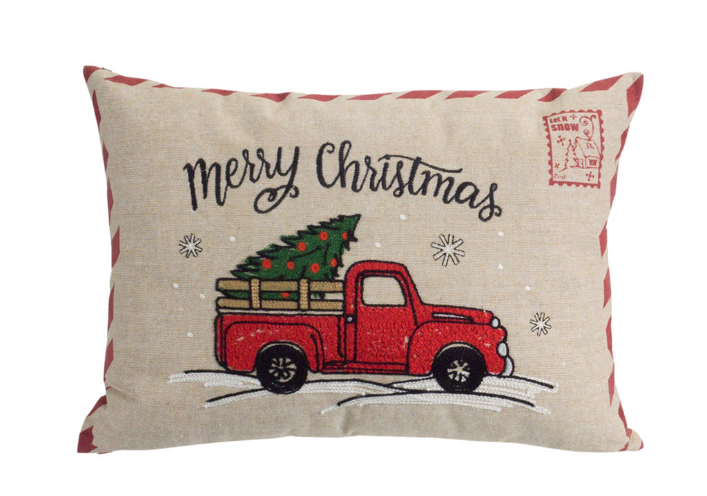 Merry Christmas Vintage Pillow
