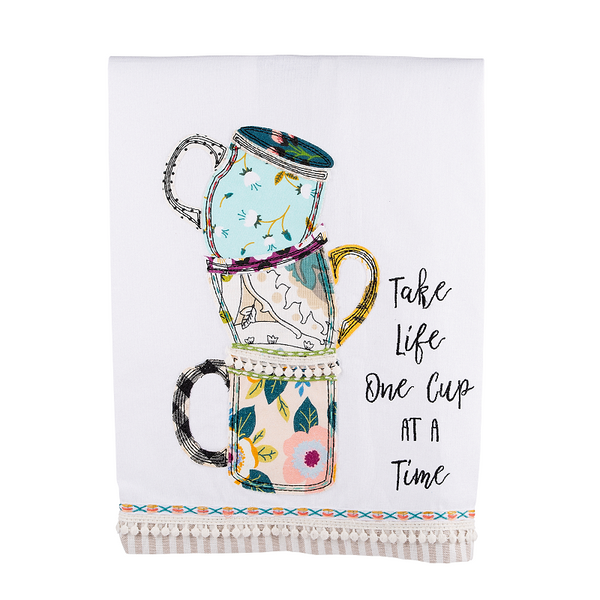 One Cup at A Time Tea Towel