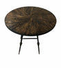 Round Reclaimed Oak Counter Height Bar Table