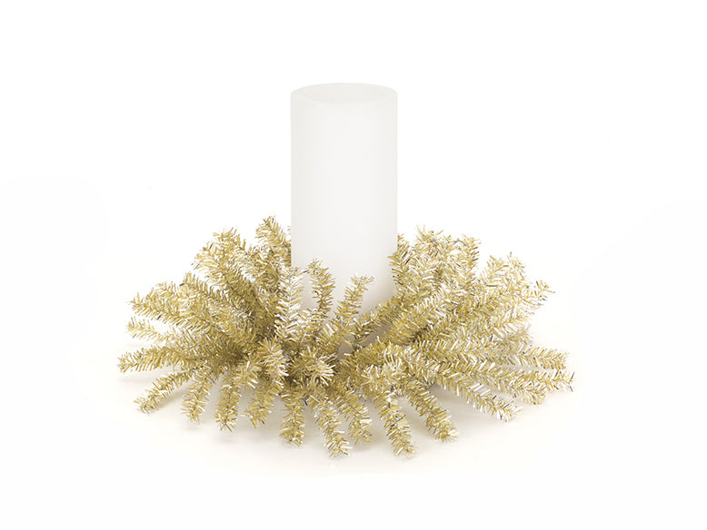Gold Pine Cone Candle Ring