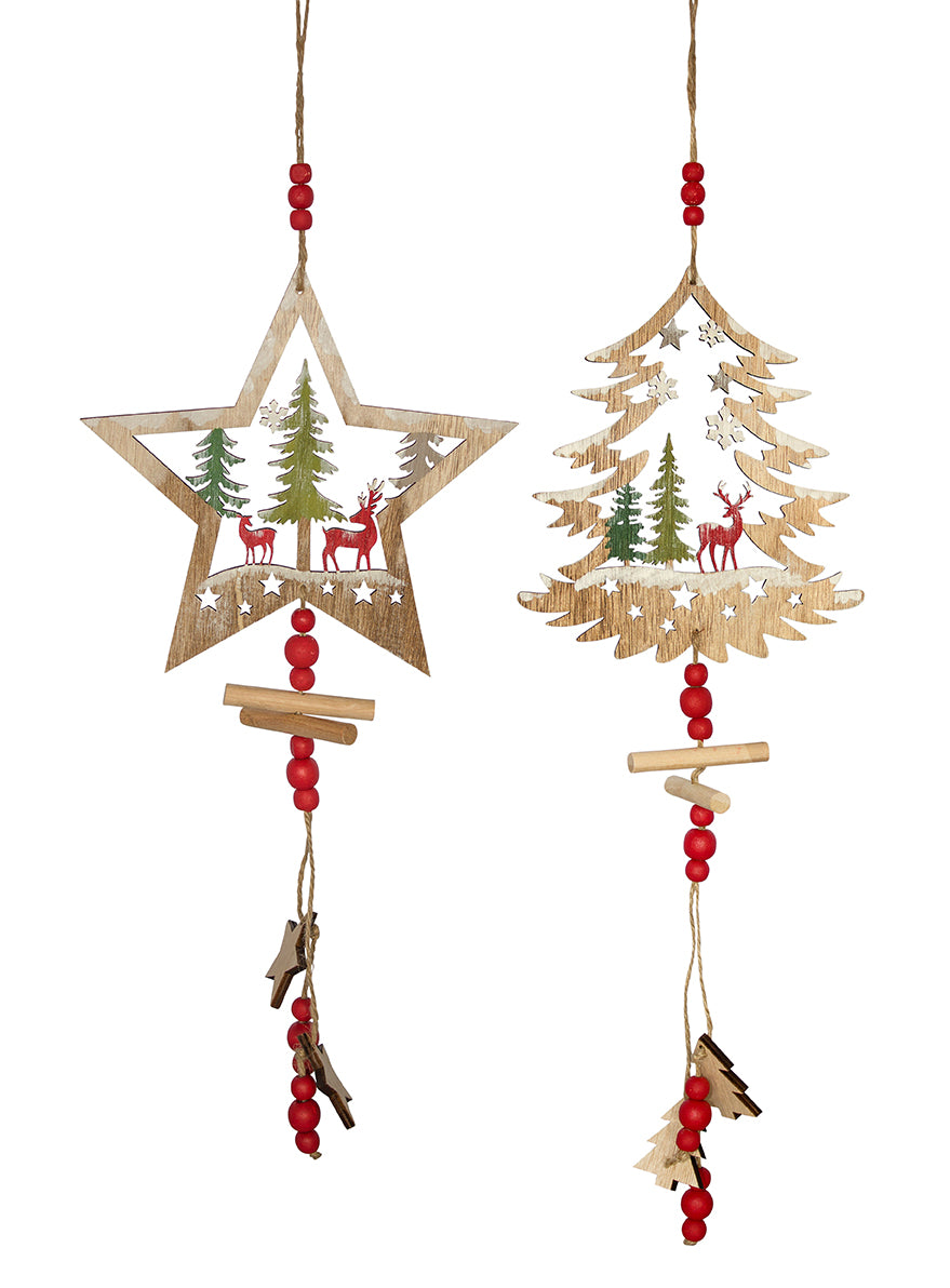 Cut Out Christmas Tree And Star Ornament