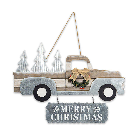 Truck Bed Full of Christmas Trees Wall Art