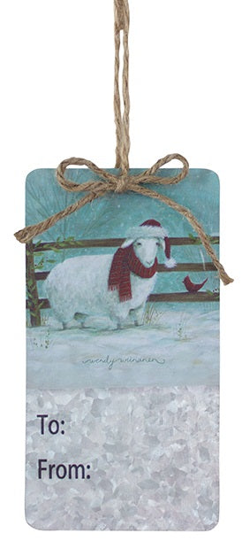 Farm Animal Christmas Present Tag