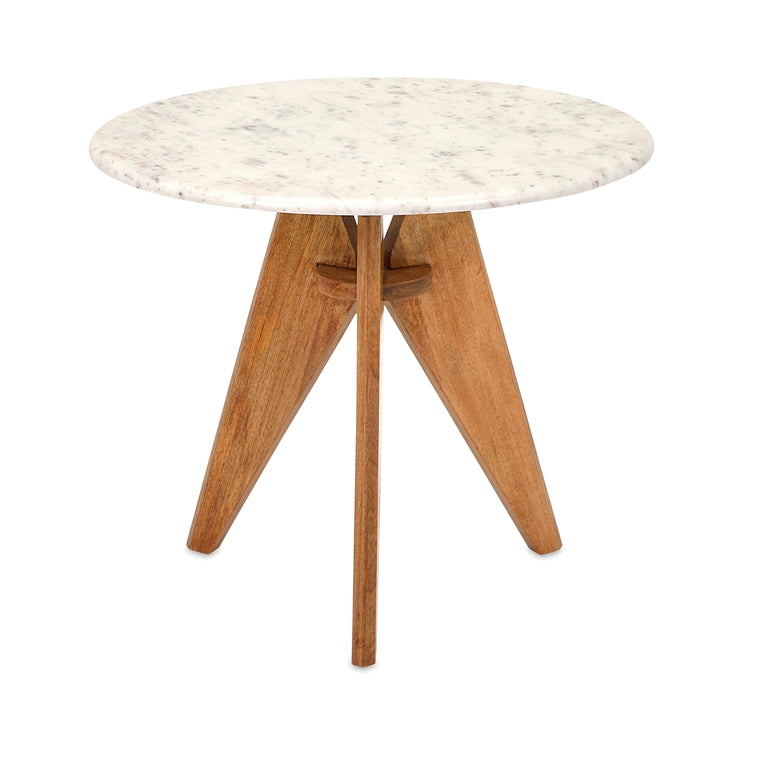 Fabio Marble Top Side Table
