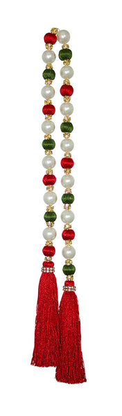 Red Green White Beaded Garland