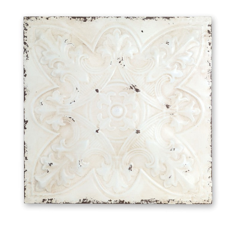 White Distressed Iron Ceiling Tile