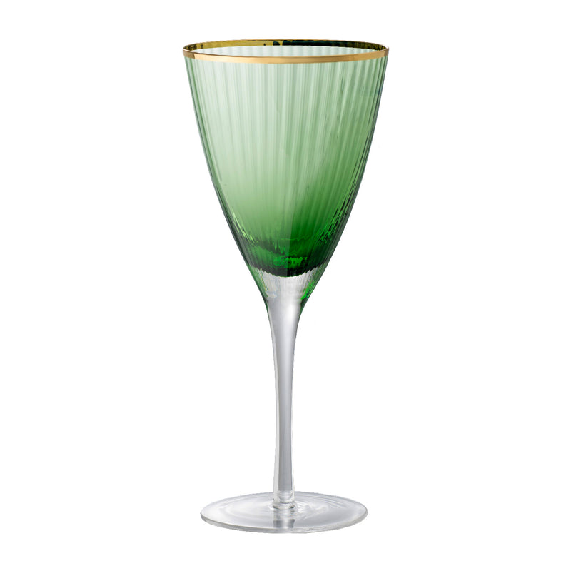 Green & Gold Wine Glass