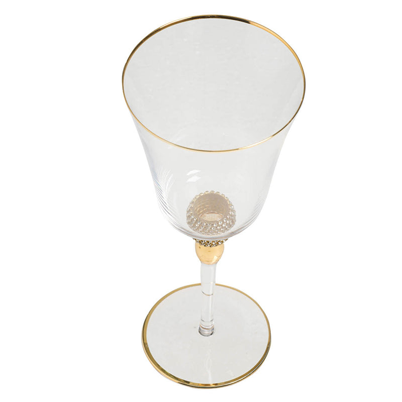 Gold Detailed Wine Glass
