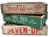 Seven Up Vintage Soda Crates