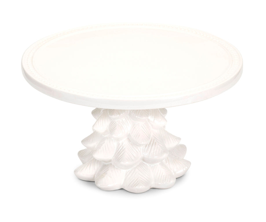 White Christmas Tree Cake Stand