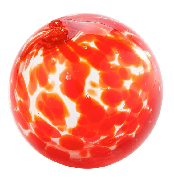 Red Blown Glass Orb