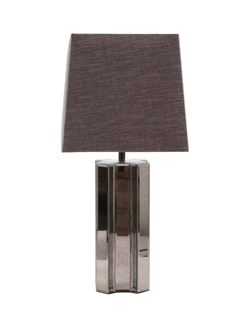 Geometric Antiqued Mirror Table Lamp