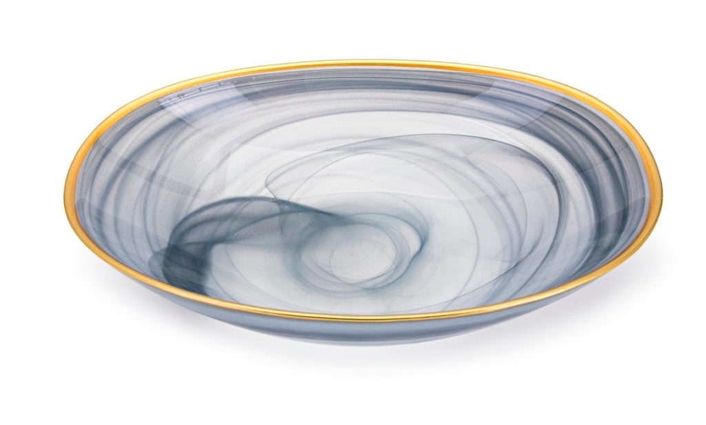 Hazel Swirling Glass Bowl