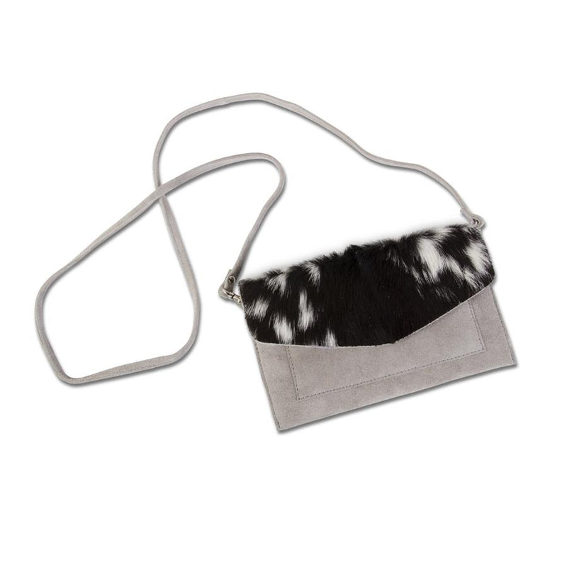Grey Camel Hair Clutch