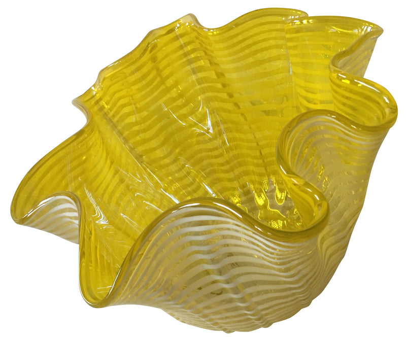 Small Yellow Fluid Glass Bowl