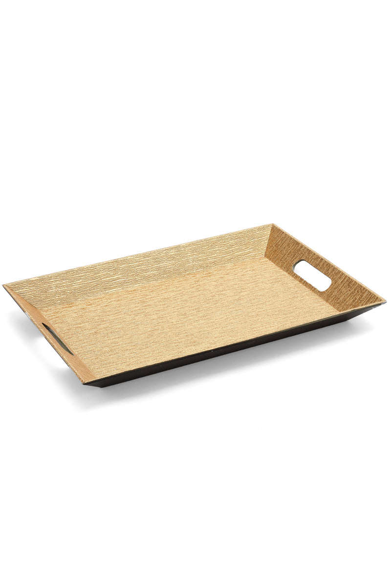 Golden Faux Leather Tray