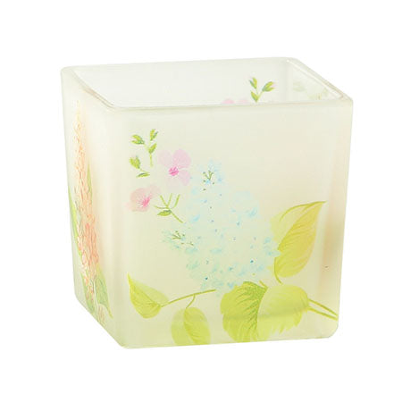 Floral Glass Votive