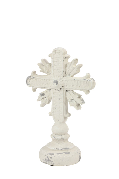 Cream Distressed Cross