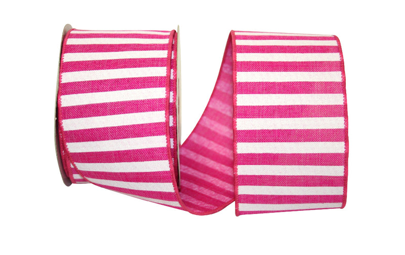 Fuchsia Railroad Stripe Ribbon