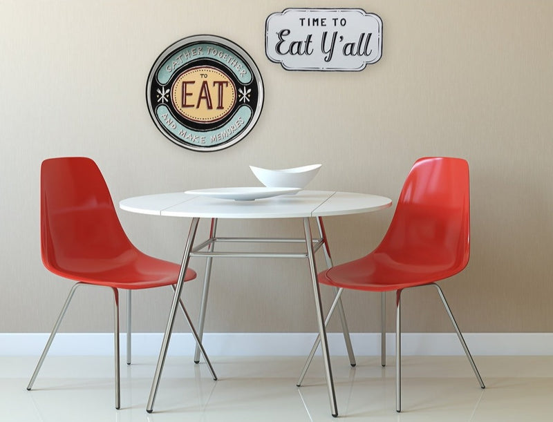 "Embossed ""Time to Eat Y'all"" Wall Sign"