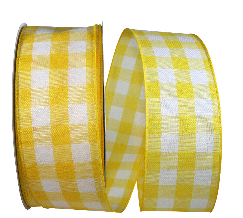 Yellow Celine Plaid Ribbon