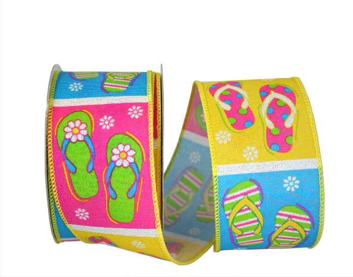 Summer Days Flip Flop Ribbon