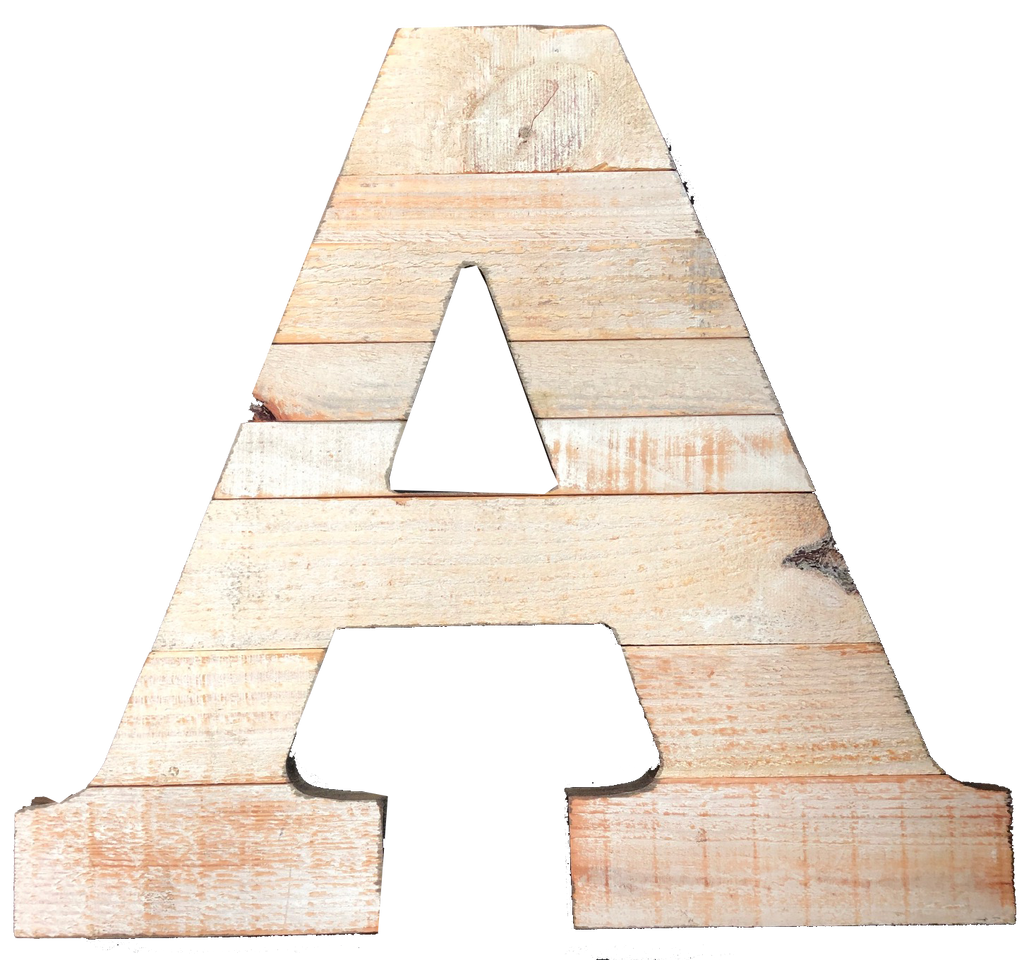 Pine Wood Letter A