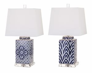 Blue and White Ceramic Lamps