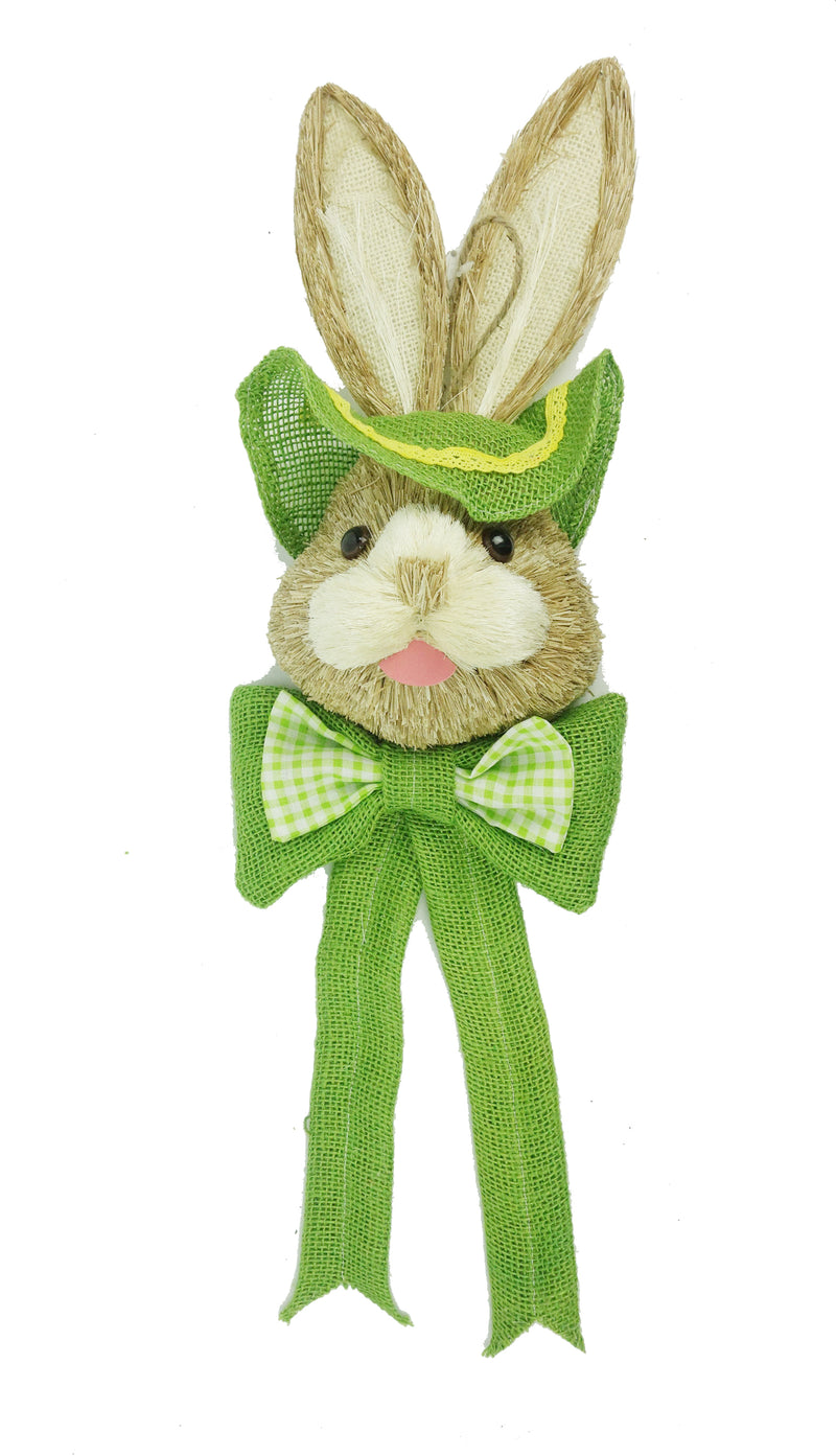 Large Yellow and Green Rabbit Head