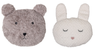 Plush Bear and Bunny Pillow
