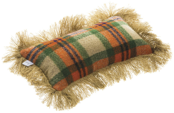 Fall Plaid Pillow with Fringe