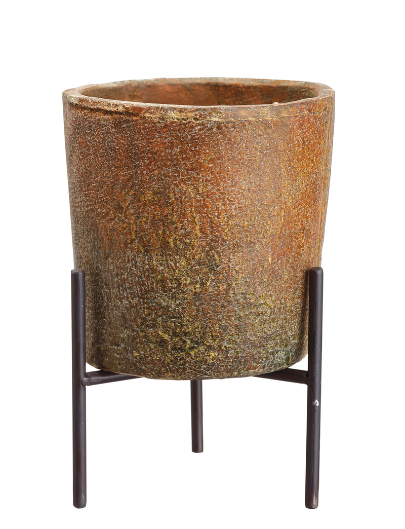 Large Cement Planter with Stand