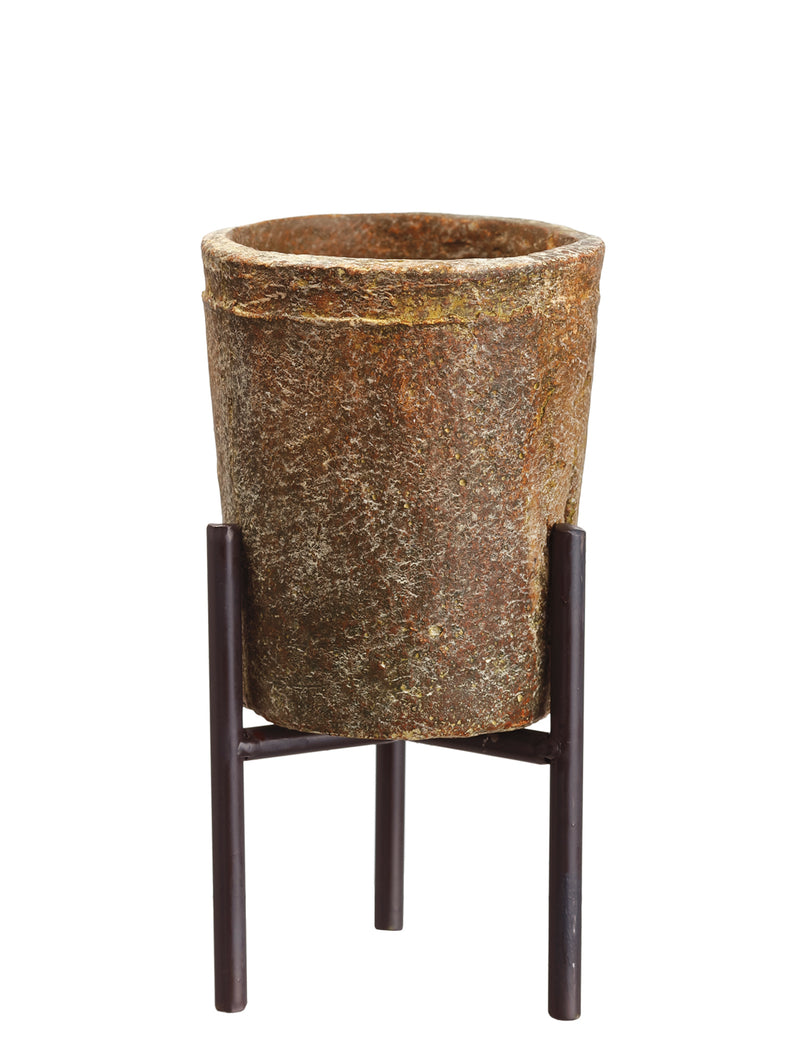 Small Cement Planter with Stand