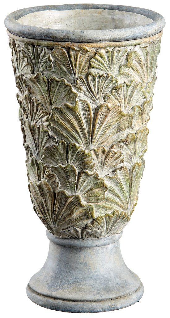 Cement Layered Leaves Vase