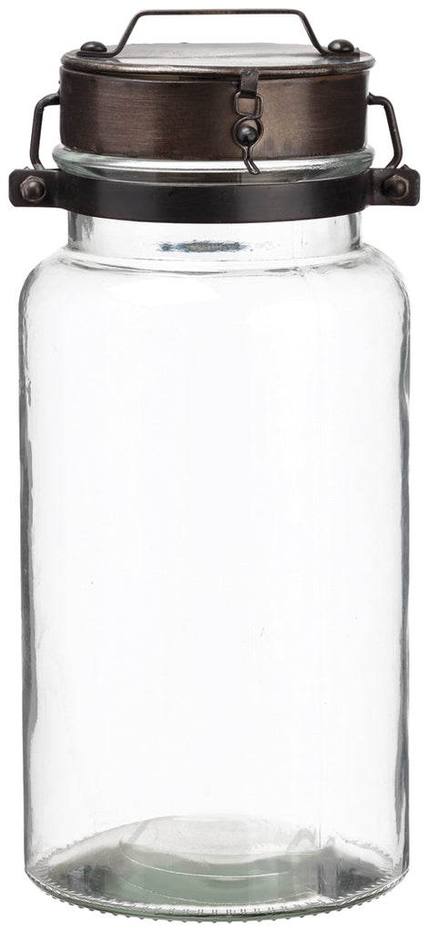 Glass Jar with Metal Lid