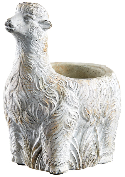 Antique White Llama Planter