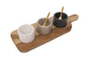 Mango Wood Tray with Marble Bowls