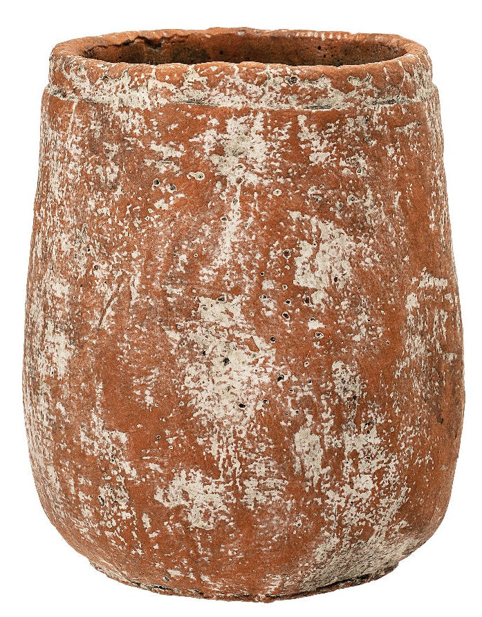Terracotta Distressed Cement Planter