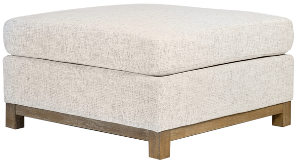 Clay Tweed Alabaster Ottoman