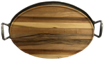 Oval Gum Cutting Board On Removable Aluminum Tray