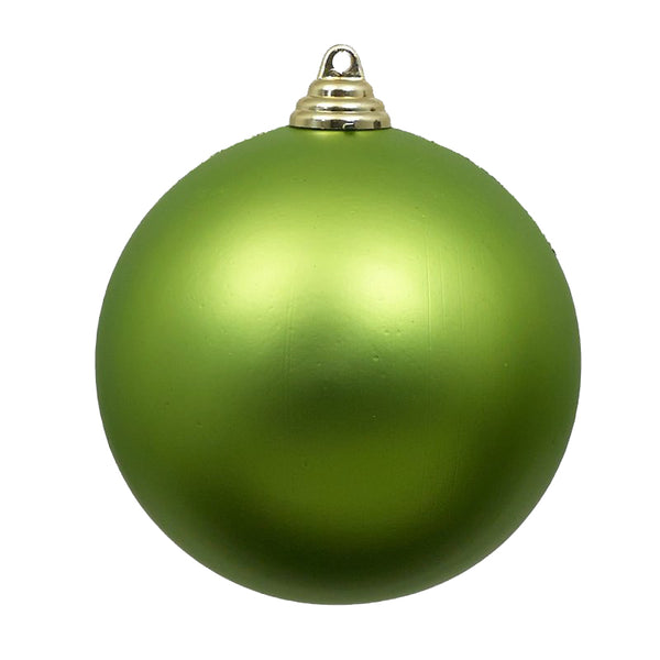 Matte Lime Green Christmas Ornament Four Inches