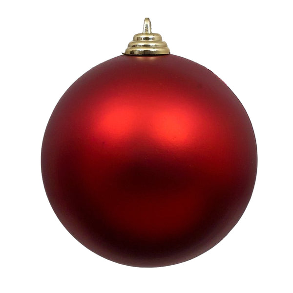Red Matte Christmas Ornament 6in