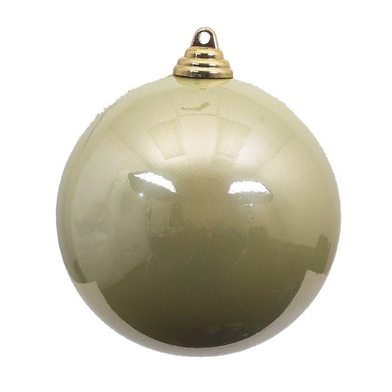 Candy Apple White Christmas Ornament 6in